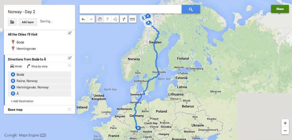 Custom Google Maps directions