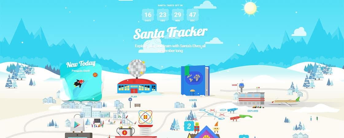 Follow Santa on his journey around the world