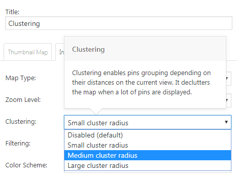 How to enable Clustering in Google Maps Widget PRO