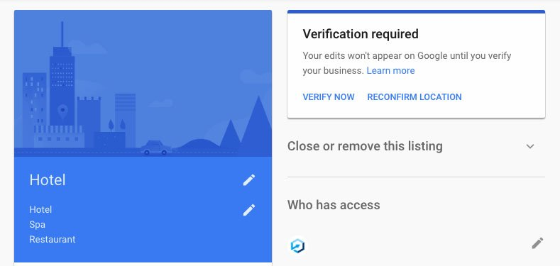 Google My Business Verification