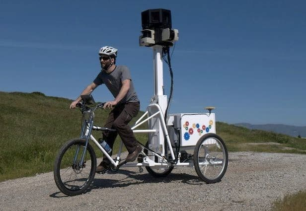 A Google Trike operated by a Google Employee