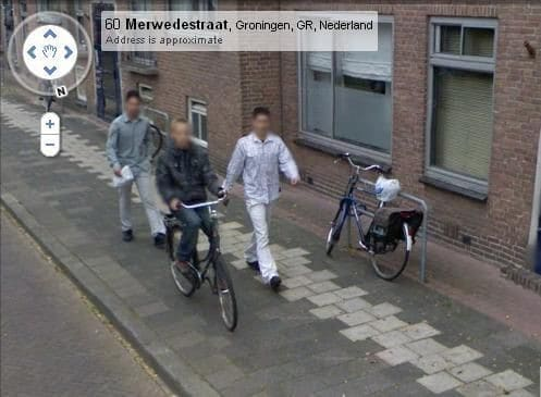 Perpetrators on Google Street View
