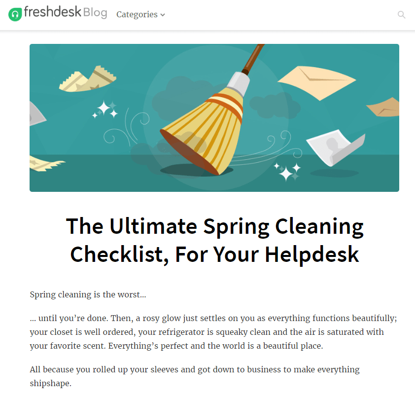 FreshDesk cleaning
