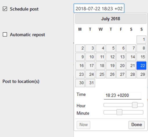 Posts Scheduler