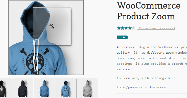 WooCommerce Product Zoom Slider