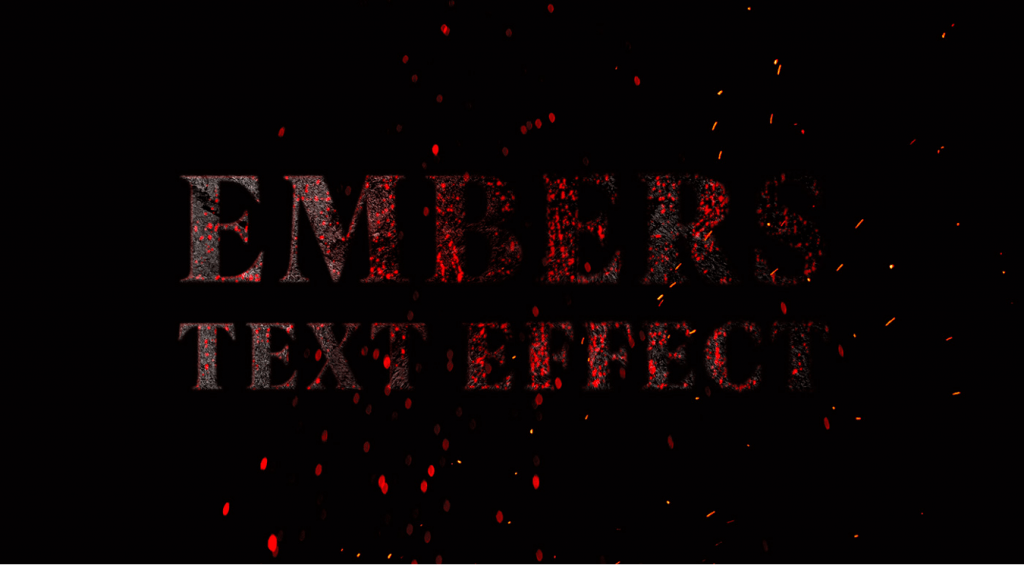 Embers Text Effect