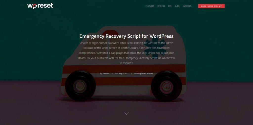 Emergency Recovery Script
