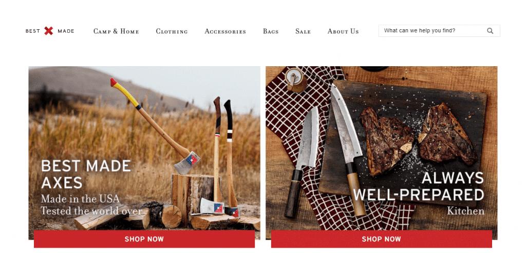 Best Made Co website