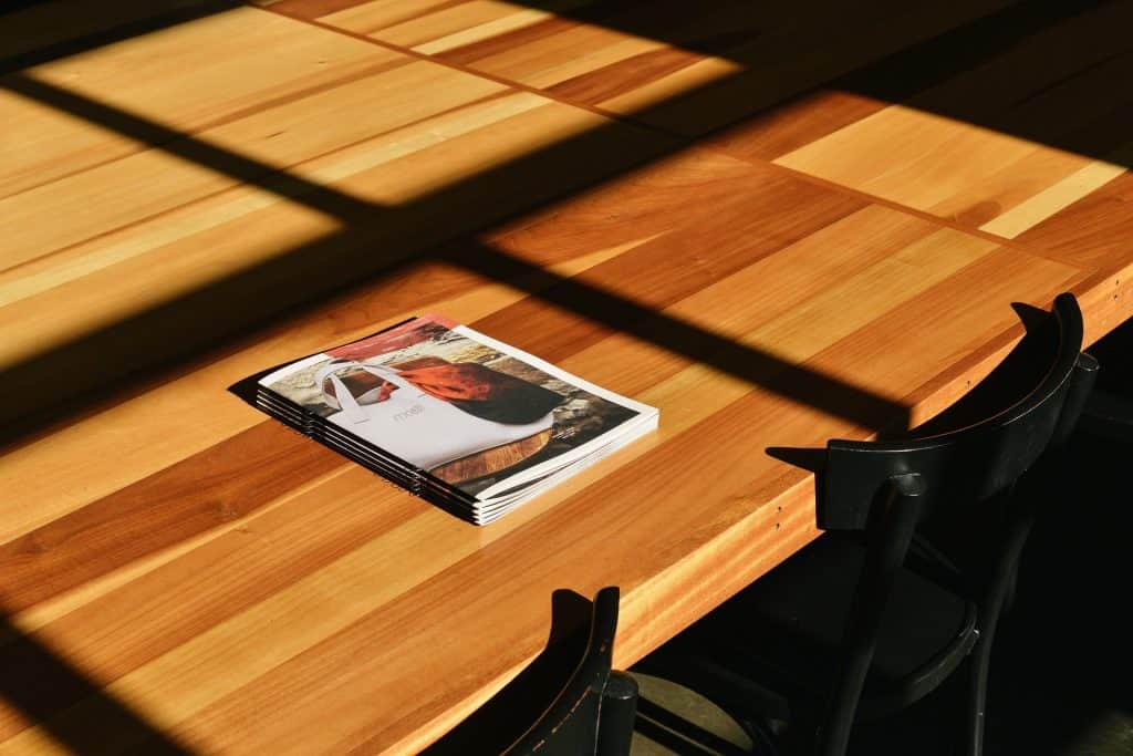 Flyer on table