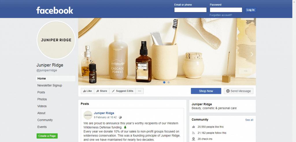 Juniper Ridge Facebook page