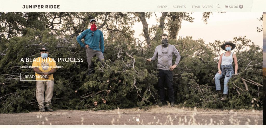 Juniper Ridge website