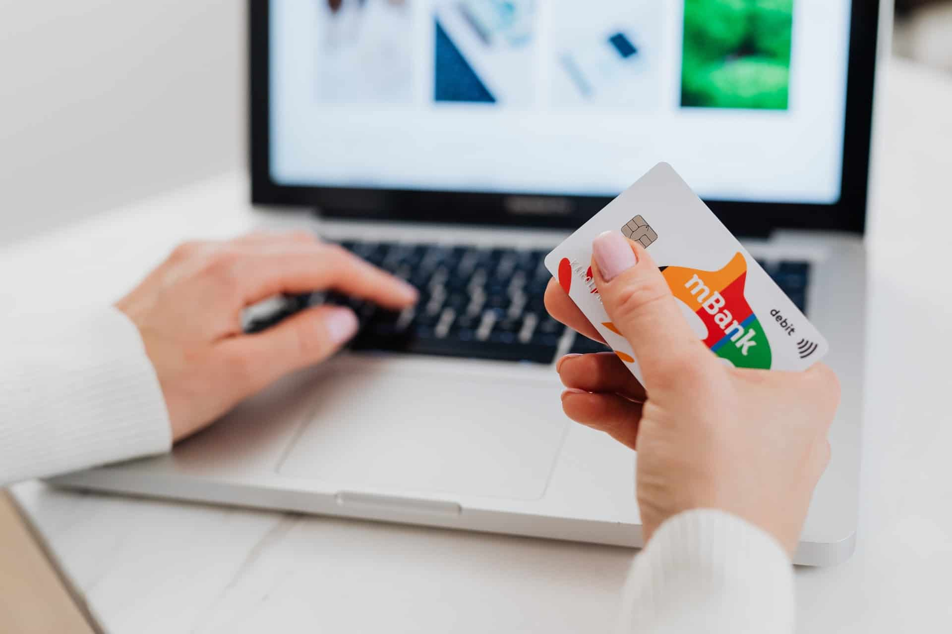 Person making online payment